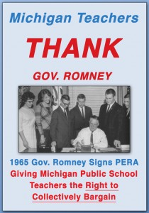MichiganTeachersThankGovRomneyforPERAAct1965