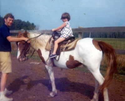 Dad with Colleen, always holding the reins.