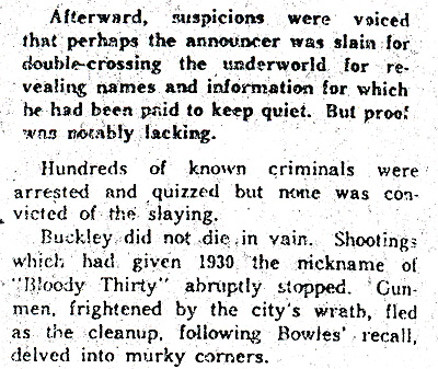 Historical retrospective on the controversy and impact of Buckley (8/17/1963 Detroit News)