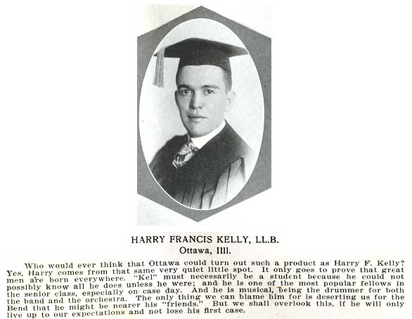 Harry NotreDame Graduation portrait 1917