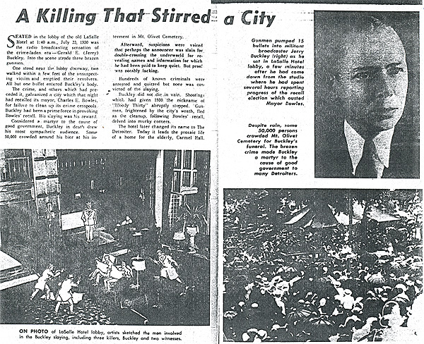 1960's retrospective of Buckley murder.