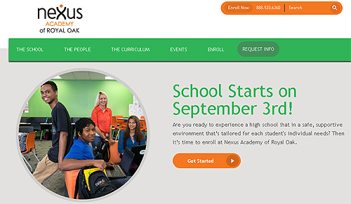 Nexus Academy (owned by British Pearson publishing) getting your school dollars.