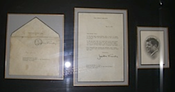 Joe received a thank-you letter from Jacqueline Kennedy after his letter of condolence.