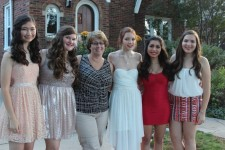 Patrice with some of her girl scouts as they head off to Homecoming.