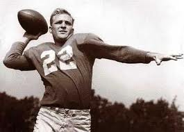 1957, the last Lions championship with Bobby Layne, in the days before helmets (and concussions).