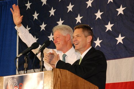 The original Comeback Kid with candidate Mark Schauer.