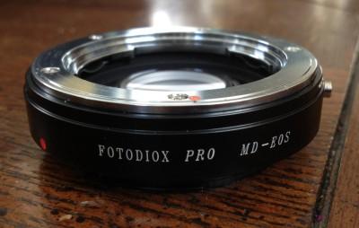 Fotodiox allows Minolta lenses to work on a Canon