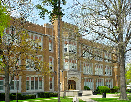 Royal Oak Dondero High School (now Royal Oak Middle School) where Ken began his career