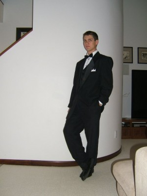 In 2007, Halloween, I showed up to school as Bond. A lot of people thought I was Frank Sinatra