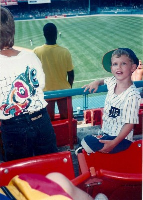 My first Tigers game. July 27, 1995.