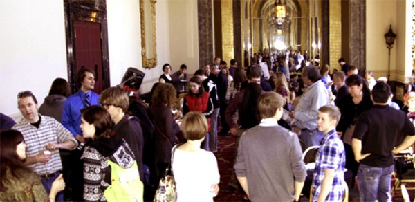 Film Fest winners mingle with parents, fans and media professionals before the event, 2013.