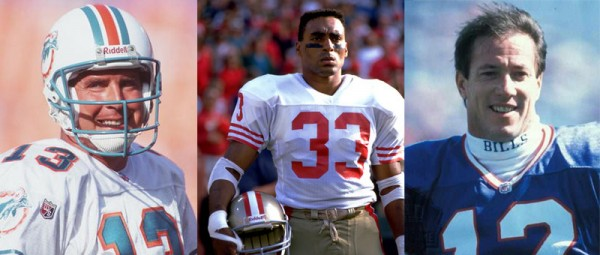 Three happy men who never had to play for the Ford family.
