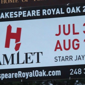 Hamlet's Hardy Fan-Base:  Shakespeare Returns to Royal Oak, July 31-August 10th
