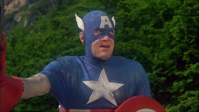 "Captain America from the 1990 film. Yes, this was the expectation for comic book movies. Even after ""Batman""."