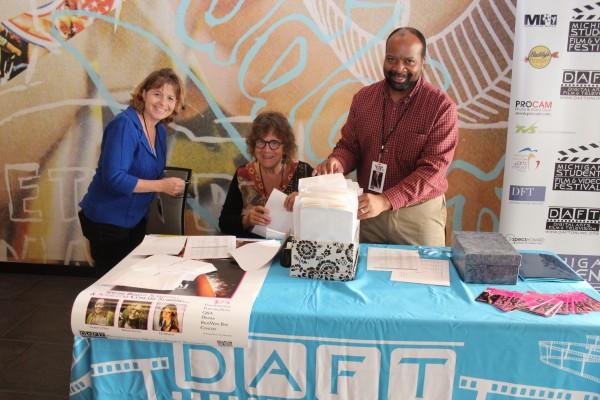 Deb Fernandez, Annette Frank and Illya Tolbert man the DAFT will-call desk.
