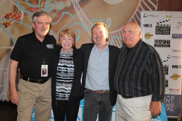 John Prusak with Doug Blush and his proud parents.