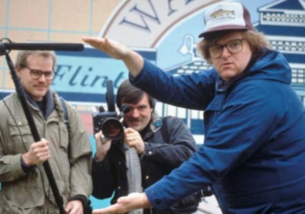 "John Prusak, Doug Blush's mentor, on camera for ""Roger and Me."""