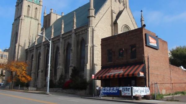 Fort Street Presbyterian Church--probably the closest beer-to-pew proximity in the country.