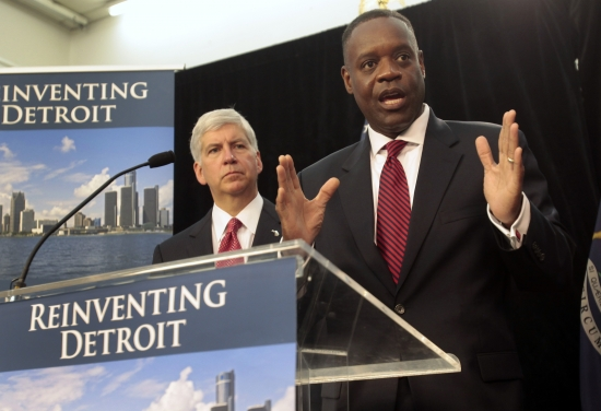 Fish-tales by Detroit Emergency Manager Kevyn Orr, with the backing of Rick Snyder, as they reinvent Detroit...and the unions...and the seniors citizen taxes and the...