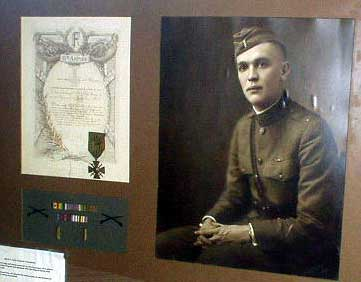 Display of Harry's WWI decorations.