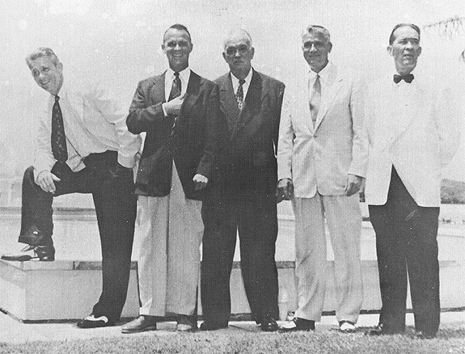 My grandmother's brothers:  Larry, Jerry, Harry, Walt and Emmett