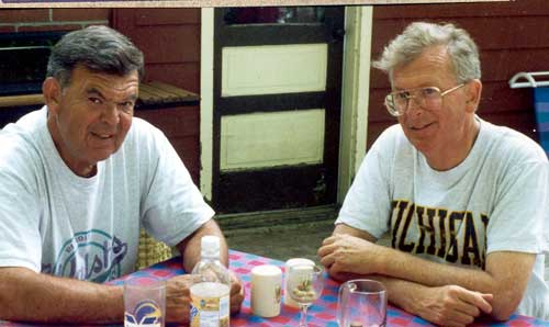 Jim Walsh (right) with his brother Jerry (1996).