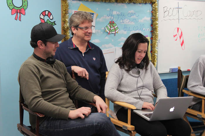 Storyboard partners, Jason Potash and Paul Finke, with Maggie Kiley