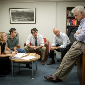 "Rachel McAdams, Mark Ruffalo, Brian d'Arcy James, Michael Keaton and John Slattery of ""Spotlight"""