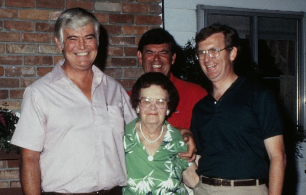 Laura with her three sons, Bob, Jerry and Jim.