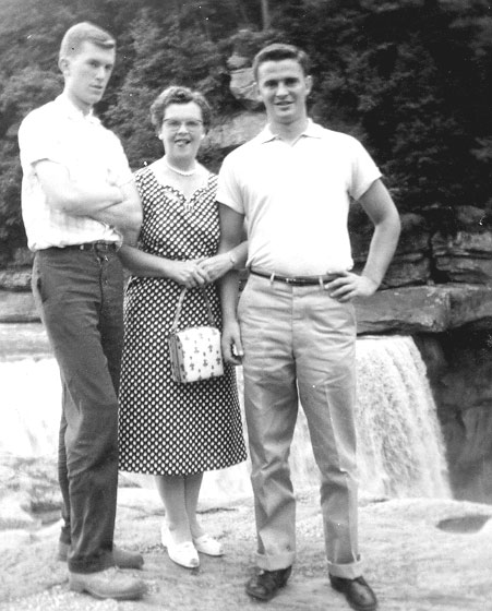 Jim with his mom Laura and Bob, neither falling for his humor.