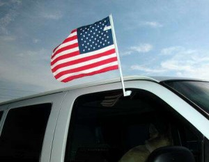 """Putting an American flag on your SUV, really is the least you can do.""  Bill Maher"